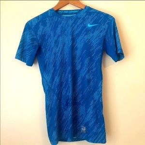 Nike Pro Combat Dry-fit Compression Shirt Blue M